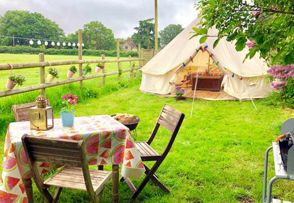child friendly bell tent glamping in the New Forest