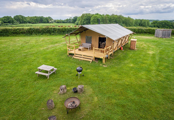Child friendly glamping in the New Forest